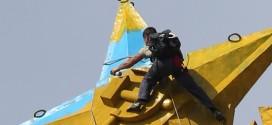 Украинский руфер Мустанг покорил рекордную высоту (видео)