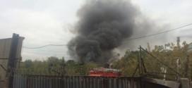 В России загорелся космический завод (Видео)