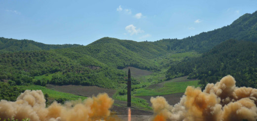 epa06064782 A handout photo made available by the official North Korean Central News Agency (KCNA) allegedly shows the North Korean inter-continental ballistic rocket Hwasong-14 being launched at an undisclosed location in North Korea, 04 July 2017. According to media reports, North Korea launched a ballistic missile on 04 July, that flew around 930km towards the Sea of Japan. The missile fell into Japan's exclusive economic zone in the Sea of Japan, according to Japanese Chief Cabinet Secretary Yoshihide Suga. North Korea said that it has successfully tested an intercontinental ballistic missile (ICBM).  EPA/KCNA HANDOUT   EDITORIAL USE ONLY